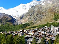 お天気に恵まれた秋のスイス周遊10日間(サースフェーからエビアンへ)