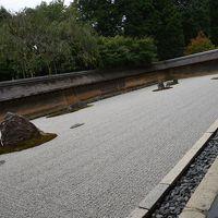 京都  もみじ葉の岩に一枚龍安寺