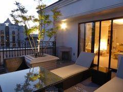 初秋の神戸 優雅なホテルスティ♪ Vol3(第1日目夕) ☆「La Suite Kobe」の「プレミアガーデン」から黄昏の神戸を眺めて♪
