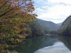 秋の扉温泉と別所温泉の旅♪ Vol10(第2日目午前) ☆扉温泉「明神館」:朝の優雅な散歩♪ 美しい扉ダム湖と紅葉を眺めて♪