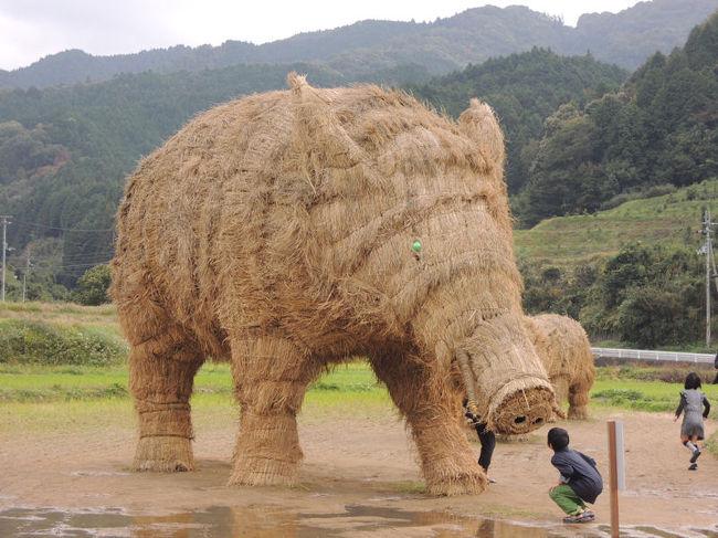 今治市玉川の田んぼに稲わらアートのイノシシがいるというので、足を運んでみました。<br /><br />なお、このアルバムは、ガンまる日記:稲わらアートのイノシシ[http://marumi.tea-nifty.com/gammaru/2014/11/post-f981.html]とリンクしています。詳細については、そちらをご覧くだされば幸いです。