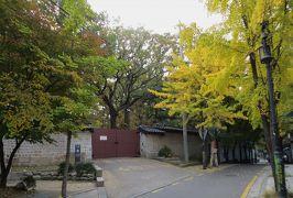 2014秋、韓国旅行記28(12):10月30日(1):ソウル、宗廟周辺の黄葉、ふくら雀、地下鉄・安国駅へ
