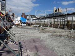 日本の旅 関西を歩く 大阪市の火災後の十三駅前、新淀川大橋周辺