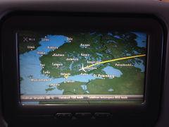 オーロラを求めて2014  (2)機内、ヴァンター 空港