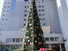 日本の旅 関西を歩く 大阪市の新梅田シティのクリスマスツリー周辺