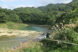 2014秋、台湾旅行記10(16):11月20日(8):九分、十分で天灯揚げ、十分瀑布公園、基隆河、成安宮