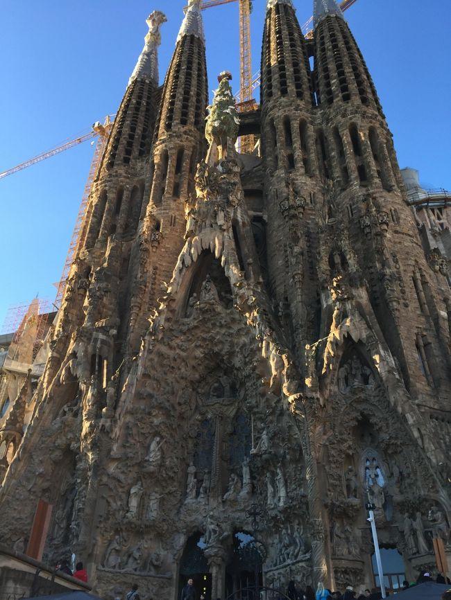 年末年始が9連休ということで、無性にどこか遠くへ行きたいと思いついたのがスペインのバルセロナ。<br />以前からずっと「サグラダ・ファミリア」を見てみたかったので、ノリと勢いで決定!<br />友達とは都合が合わず、まさかの一人旅!?<br />英語もできない、スペイン語なんて話せるわけもない。<br />それでも行きたい気持ちが勝ったので、行ってきちゃいました\(^o^)/<br /><br />行ってみたら色々凄かった!<br />治安も悪い感じはなく、皆優しい(*・ω・*)<br />色んな人に助けられて無事に旅行を満喫してきました!