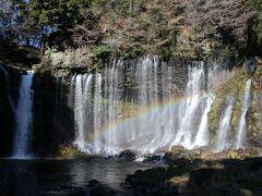 白糸の滝の滝で虹を見た後こばやしで鴨重定食を頂きました。