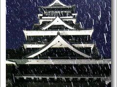 Solitary Journey[1503]初日の出は×、でも初雪が降る中でライトアップされた城は美しく幻想的でした。<熊本城>熊本県熊本市