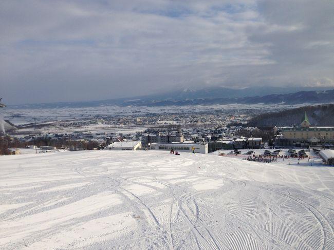 2012年から年末年始のスキーはLCCを使って北海道に行くことに。<br />ニセコ、札幌とここ2年行ったので、2014年末は富良野に行ってみることにしました。<br />最初は昨年に続き札幌宿泊で、ツアーバスに乗って毎日色々なスキー場に行くことを考えていましたが、昨年泊まったホテルが今年は何故か2倍程度のお値段になっており断念。他も札幌市内は何故かホテルが年末空きが少ないと調べてみると、EXILEのコンサートが。。。では違うところにしようと、最終的に富良野に決定しました。<br />8月にバニラエアの成田―新千歳を予約。吹雪くこともなく、充実したスキー旅行となりました。<br /><br />エアー:バニラエア<br />宿泊:ホテルエーデルヴェルメ