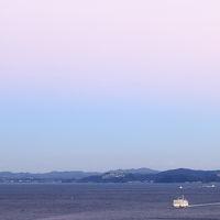 冬の晴れた日に…【横須賀 くりはま花の国から見る夕空】