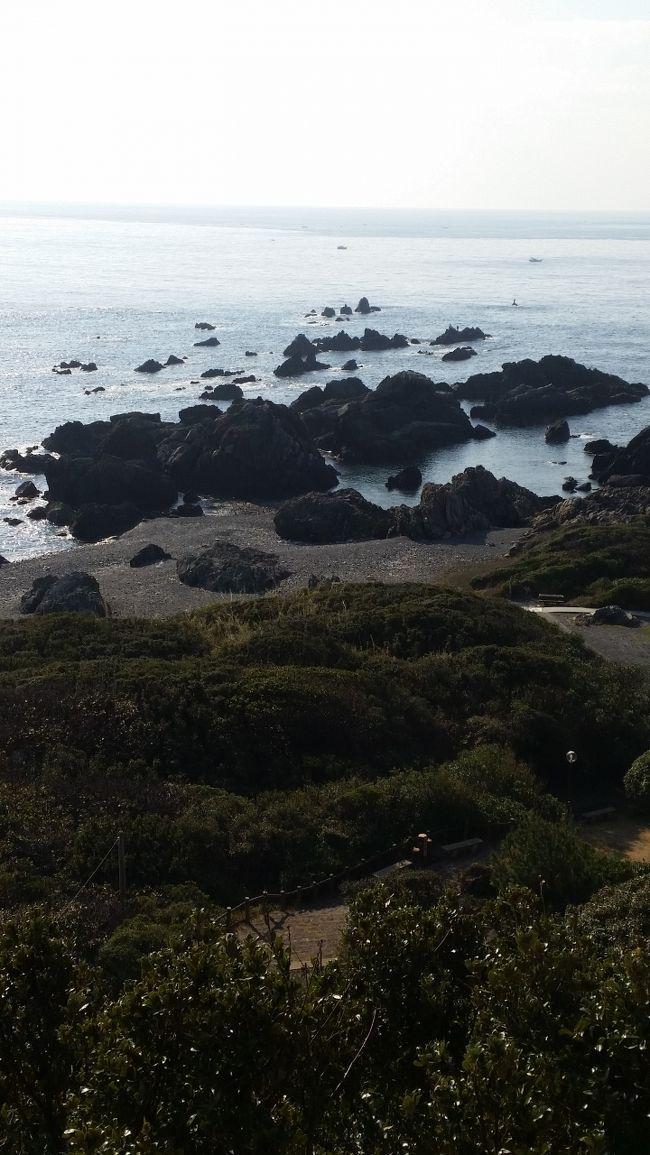 未だ訪れていない日本の観光地をと想い、うまく休暇がとれたことも手伝って、1週間ほど四国~鳥取を一人旅(奥さま公認)へと向かいました。<br /><br />室戸岬、足摺岬、鳥取砂丘、この三箇所を巡るべく・・・<br />  「特急列車の旅」<br />  「路線バスの旅」<br />  「ぶらり歩き旅」<br />  「温泉満喫の旅」<br />これら全てが網羅されたやや贅沢な旅を味わってきました。<br /><br /><br />【行程】 注)旅行前に計画<br />2015年1月19日(月)<br /> 07:29発 xxx<br />  ↓  新幹線のぞみ9号 指定席<br /> 10:30着 岡山<br />  ★乗換え:約30分<br /> 11:05発 岡山<br />  ↓  特別急行うずしお11号 自由席<br /> 13:04着 徳島<br />  ★乗換え:約80分<br /> 14:20発 徳島<br />  ↓  特別急行むろと3号 自由席<br /> 15:31着 牟岐<br />  ★乗換え:約10分<br /> 15:45発 牟岐駅前<br />  ↓  徳島バス<br /> 16:29着 甲浦駅前<br />  ★乗換え:約15分<br /> 16:44発 甲浦駅前<br />  ↓  高知東部交通バス<br /> 17:30着 岬ホテル前<br />  <br />  ◇宿泊先:岬観光ホテル<br /><br /><br />2015年1月20日(火)<br /> 08:00発 宿泊先<br />  ↓  室戸岬周辺探索<br />     ぶらり歩き<br /> 12:39発 室戸岬<br />  ↓  高知東部交通バス<br /> 13:37着 奈半利駅<br />  ★乗換え:約20分<br /> 14:01発 奈半利<br />  ↓  土佐くろしお鉄道 快速<br /> 15:19着 高知<br />  ★乗換え:約20分<br /> 15:43発 高知<br />  ↓  特別急行あしずり5号<br /> 17:27着 中村<br />  ★乗換え:約30分<br /> 18:00発 中村<br />  ↓  駅レンタカー<br /> 19:30着 宿泊先<br /><br />  ◇宿泊先:足摺国際ホテル<br /><br /><br />2015年1月21日(水)<br /> 08:00発 宿泊先<br />  ↓  足摺岬周辺探索<br />     レンタカー<br /> 15:10発 中村<br />  ↓  特別急行南風24号 自由席<br /> 19:41着 岡山<br />  ★乗換え:わずか5分<br /> 19:46発 岡山<br />  ↓  特別急行スーパーいなば11号 自由席<br /> 21:30着 鳥取<br /><br />  ◇宿泊先:鳥取ワシントンプラザ<br /><br /><br />2015年1月22日(木)<br /> 09:00発 宿泊先<br />  ↓  鳥取砂丘周辺探索<br />     路線バス<br /><br />  ◇宿泊先:岩井温泉岩井屋<br /><br /><br />2015年1月23日(金)<br /> 09:00発 宿泊先<br />  ↓  岩井温泉周辺探索<br />     路線バス<br /> 14:54発 鳥取<br />  ↓  特別急行スーパーはくと10号 自由席<br /> 17:48着 京都<br />  ★乗換え:約30分<br /> 18:16発 京都<br />  ↓  新幹線のぞみ44号 指定席<br /> 20:14着 xxx<br /><br />  ◇帰路<br /><br />さて、予定通りの旅ができたでしょうか?