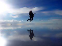 天空の鏡が見たくて ウユニ塩湖一人旅4*・゜・*ウユニ塩湖サンセットツアー*・゜・*
