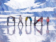 天空の鏡が見たくて ウユニ塩湖一人旅6*・゜・*ウユニ塩湖サンライズツアー*・゜・*