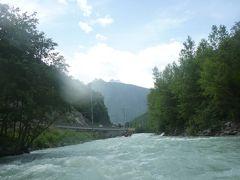 ドイツ&スイス鉄道の旅~スイス・Vispリバーラフティング~
