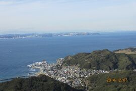 東京湾が見渡せる鋸山と房総半島でとれた海の幸で忘年会