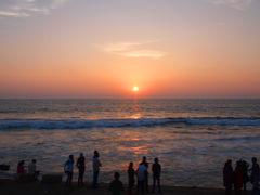 スリランカ11 ゴール・フェイス・グリーンの夕焼け