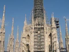 ヨーロッパ 6-(3) リヨンからミラノへ移動してドゥオーモ広場へ行き、ドゥオーモの天辺まで上りました!!