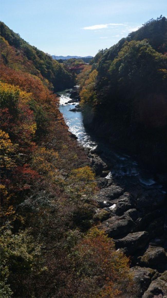 紅葉とレトロを探して 大間々歩き 午前 高津戸峡・コノドント館