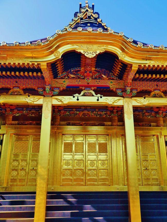 1627年(寛永4年)、津藩主藤堂高虎と天台宗僧侶天海僧正により、東叡山寛永寺境内に家康公を お祀りする神社として創建され、1646年(正保3年)には正式に宮号を授けられ「東照宮」となりました。<br />現存する社殿は1651年(慶安4年)に三代将軍・徳川家光公が造営替えをしたものでございます。<br />その後戊辰戦争や関東大震災でも焼失せず、第二次世界大戦にも不発弾を被っただけで社殿の倒壊は免れました。 江戸の面影を現在に残す貴重な文化財でございます。<br />東照宮とは徳川家康公(東照大権現)を神様としてお祀りする神社で、日光や久能山のほか全国に数多くございます。<br />春はぼたん・桜の名所として、秋は紅葉狩り、お正月は初詣や冬ぼたん鑑賞の方で大変賑わい、 開運・学業などの祈願成就を願う方が後を絶ちません。<br />( http://www.uenotoshogu.com/about/ より引用)<br /><br />上野東照宮については・・<br />http://www.uenotoshogu.com/<br /><br />旅行時期 2005/04/08<br />東照宮の美・上野に春の色を求めて・・<br />http://4travel.jp/travelogue/10021138