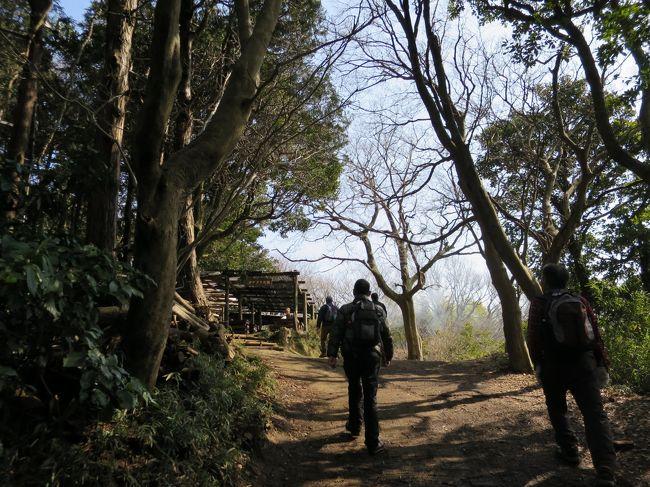 梅の季節になりました、今回は鎌倉アルプス(天園ハイキングコース)を歩いてみたいと思います。<br />初心者向けのコースで、小町通り散策、グルメも堪能出来ます。<br />2月27日(金)横須賀線・北鎌倉駅改札AM9.30集合で、元会社仲間五人で歩いてきました。<br /><br />コース<br />北鎌倉駅(9:30)-明月院-天園ハイキングコース-瑞泉寺-鎌倉宮-荏柄天神社-頼朝墓-鎌倉八幡宮-小町通り-鎌倉駅(14:50)<br /><br />鎌倉駅前で、ビールと食事を摂って解散、天気も良く気持ち良く歩けました。<br />21,000歩 12.9?のハイキングでした。