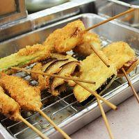 日産リーフモニター体験!新世界「八重勝」で串カツを食べよう♪