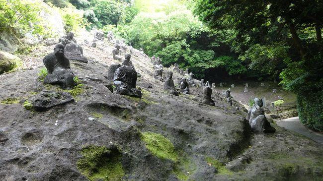 5月26日<br />お天気に恵まれて<br />阿蘇から熊本へドライブ。<br /><br />途中からどこへ????と思わせる<br />山道をくねくねと<br />2時間近くかかりました。<br /><br />熊本<br />14番所 岩殿山 雲厳寺