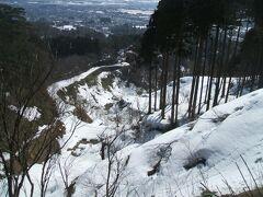 まだ雪が残っていた春日山城と高田城