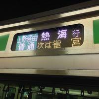 宇都宮出張 初上野東京ライン