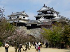 2015春、四国周遊の旅(22):3月31日(6):愛媛、松山城、東雲神社、松山から香川の金刀比羅宮へ