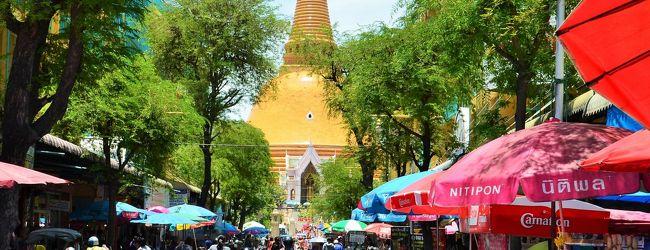 タイ ナコーンパトムで世界一でっかい仏...