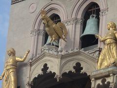 世界遺産エオリエ諸島とシチリア大周遊(48) メッシーナ 鐘楼とオリオンの噴水と大聖堂の見学