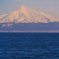 利尻山 冠雪の利尻冨士、孤高の峰に憧れて ☆日本海越しに眺める秀景