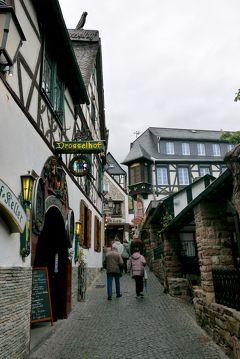 2015.4ライン・アルザス旅行2-Hotel Traube Rudesheim,つぐみ横丁,Quetsch Kommodで夕食