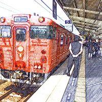 2015 6月 楽しい列車の旅「伊予灘ものがたり号・八幡浜編(松山13:28発→八幡浜15:52着)」、列車内でフレンチを楽しむ。