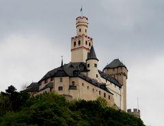2015.4ライン・アルザス旅行13‐BraubachでMarksburg城を垣間見る.Rudesheim経由でFRAへ