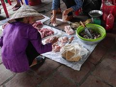 Ninh Binh(ニンビン)のローカル市場の風景。最近世界遺産となったチャンアンから5、6km。
