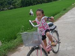 ハノイから山に囲まれた村、Mai Chau マイチャウに1日ツアー。マイチャウでママチャリ。日本から来た中古自転車でサイクリング!