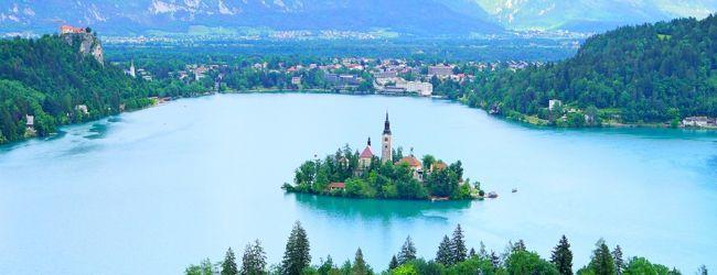 美しいブレッド湖の景色に魅せられて・・...