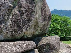 明日香4/7 石舞台古墳 巨石が30も積まれ ☆夢市茶屋:古代米御膳の昼食