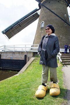初夏のオランダ旅行(2)ロッテルダムから船を乗り継いだキンデルダイクで、巨大な風車の回転にドン・キホーテに共感してデルフトへ向かう。