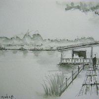 江戸川 沿いの風景・・