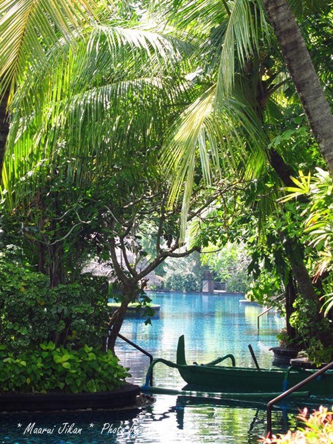 2015年のソンクラン。<br />夫の会社のカレンダーでは4月11日〜15日がソンクラン休暇。<br />2014年末には旅行の予定を立てておきたいところでしたが、その頃、体調を崩しており…<br />ようやく旅行の計画を立て始めたのは1月10日を過ぎたころでした。<br /><br />2012年のソンクラン旅行以来、すっかりバリ島にはまってしまったわが家。<br />2015年のソンクランももちろん行先はバリ島!<br /><br />まずは航空券を押さえなければ。<br />いつもお世話になっている代理店のYさんにお願いしたのが1月12日。<br />今年はTGの直行便。<br />4月11日 TG431 BKK 9:10ー DPS 14:30<br />4月15日 TG432 DPS 16:20ー BKK 19:30<br />これで航空券はOK!<br />のはずが、今年もまたまた問題発生。<br />4月以降のデンバサール行きTG便は、予約後、2週間以内の発券が必要になるとのこと。<br /><br />これまでも夫の仕事のため、期間短縮や旅行延期の経験があるわが家。<br />う〜〜〜ん、それは困る!<br />本来ならそうなる所なのですが、大丈夫!<br />そこはいつもお世話になっているYさん。<br />さくっと、問題は解決してくれました。<br />「可能な限り、2週間ごとの再予約を繰り返します」<br />Yさんは気配りの人で、一度お願いしたことはずっと覚えてくださっていて、私の方からお願いしなくてもきちんと手を打ってくれます。<br /><br />恐れていた通り、夫は4月16日には仕事が入ってしまい、日程変更しなければならなくなりました。<br />3月2日に復路便を4月14日に変更。<br /><br />3月12日に代理店のYさんから「往路便が再予約不可能な状況」とのメール。<br />この時点で発券してもらい、航空券の手配は完了しました。<br /><br /><br />最も大事なホテルの手配。<br />第1候補はやっぱり2012年、2013年に訪れた【セントレジス バリ】<br />実は私には【セントレジス バリ】の他にも行ってみたいホテルが2つあるのです。<br />それは、【ザ サマヤ バリ】と【カユマニス】<br />これまでの3回ともヌサドゥアに宿泊していたので、一度は違う場所も良いかな〜と思っていました。<br />それぞれのホテルに問い合わせのメールを送ってみました。<br />【ザ サマヤ バリ】はウブドとスミニャックにあります。<br />私が行ってみたいと思ったのはスミニャックの方。<br />こちらのビーチフロントレストラン『Breeze』でディナーを楽しみたいと思ったから。<br />サンセットが美しいビーチでのディナーは格別との口コミ多数。<br />以前から気になっていました。<br /><br />もう一つの【カユマニス】ですが、こちらはバリ島に4か所のホテルがあります。<br />一番行ってみたいと思ったのが【カユマニス ウブド】<br />こちらのホテル、その景色が素晴らしいのです!!<br />渓谷の中にあるレストランでいただく朝食に憧れました。<br />が、こちらには大きな問題が!<br />【カユマニス ウブド】のヴィラはリビングがアウトサイドなのです。<br />バンコクにいても虫よけスプレーが手放せない私にはこのアウトサイドリビングは無理〜!!<br />カユマニスはそのサービスもとても評判なので、アウトサイドリビングではない【カユマニス ヌサドゥア】にしてみようか?<br /><br />そこで、【ザ サマヤ バリ】と【カユマニス ヌサドゥア】に問い合わせてみました。<br />【ザ サマヤ】はレスポンスの早さと丁寧な対応が好印象だったのですが…<br />こちらは予約時に予約確定前払い金(1泊分)が必要になります。<br />これはキャンセルの場合、理由の如何にかかわらず返金できないというもの。<br />また、キャンセルは宿泊予定の14日前まで。<br /><br />【カユマニス】も丁寧な対応をしていただきました。<br />こちらは宿泊予定日の31日前までキャンセル無料ですが、それ以後は100%発生するとのこと。<br /><br />【ザ サマヤ】からは「空きは十分にあるので直近でも予約可能」<br />【カユマニス】からは「旅行会社等から予約するとキャンセルポリシーは良い条件のものがある」<br />とのメールをいただきましたが…<br /><br />悩みに悩んだ末、やっぱり【セントレジス バリ】に決定!<br />悩んだ時間