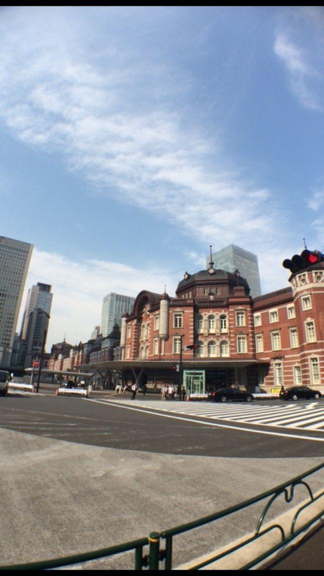 ずっと泊まりたかった東京ステーションホテル。本当は新幹線で東京へ行き宿泊したかった…けど、今回は飛行機で東京へ行きました…研修も兼ねていたので仕方ない…<br />ホテルはとても素敵でした。