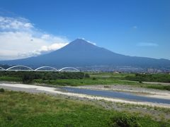 台風と追いかけっこの帰国07★静岡★新幹線からの富士山