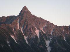 槍ヶ岳眺望の登山