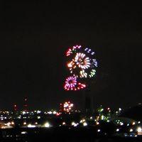 今年は自宅から見る四日市花火大会