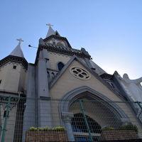 2015年5月日本滞在記 No.24~「ホテルの隣りの<三浦町教会>と<セイルタワー>の見学。そして高速バスで博多に移動しました。」 2015年5月22日(金)