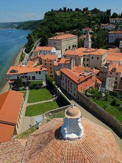 ★スロベニアあちこち(11)高台にある聖ユーリ教会や聖ユーリの鐘楼へ
