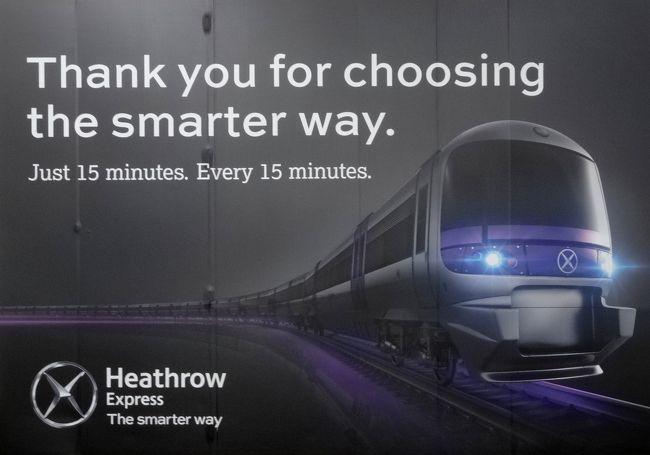ヒースロー空港からロンドン中心部へ,どうやって行こうかと思ってたら,ヒースロー・エクスプレスという便利な乗り物がありました<br />地下鉄という手もありますが,安いけどちょっと時間かかるし,「スーツケース引きずってるのに座れないのもなぁ」と,心が楽な方へ傾いてました…<br /><br />ヒースロー・エクスプレスは,日本で言えば,JRの成田エクスプレスや京成スカイライナーみたいなもので,車内は,大きなスーツケースを持った海外旅行客に配慮された設計になっています<br /><br />※この旅行記では,初めてロンドンを訪れた人間が体験した,ヒースロー・エクスプレスのチケット予約・購入から乗車までをドキュメントしてみました<br /><br />【ヒースロー・エクスプレスのHP】<br />※https://www.heathrowexpress.com<br /><br /><br />【行程と旅行記】<br /><br />☆1日目☆ 羽田発11:25JAL43便→ヒースロー着15:27,ホテルにチェックインして大英博物館(1/3回目)<br />http://4travel.jp/travelogue/11038792<br /><br />☆2日目☆ ロンドン塔,ウェストミンスター寺院,王立裁判所,テンプル・チャーチ,セント・ポール大聖堂,大英博物館(2/3回目),パブ,フリーメイソンズ・ホールなど<br />http://4travel.jp/travelogue/11045860<br /><br />☆3日目☆ セント・パンクラス駅,キングスクロス駅,ウォータールー駅,ビッグ・ベン(国会議事堂),バッキンガム宮殿,ピカデリー・サーカス,トラファルガー広場,タワー・ブリッジ, ナショナル・ギャラリー(1/2回目),シャーロックホームズ・パブ,ハンガーフォード橋など<br />http://4travel.jp/travelogue/作成中<br /><br />☆4日目☆ バース(ローマ浴場と街並み)&ストーンヘンジ1日ツアー<br />http://4travel.jp/travelogue/作成中<br /><br />☆5日目☆ シティ(イングランド銀行,ギルドホールなど),シャーロック・ホームズ博物館,アビーロード,ナショナル・ギャラリー(2/2回目),大英博物館(3/3回目),ヒースロー発19:18JAL44便<br />http://4travel.jp/travelogue/作成中<br /><br />☆6日目☆ 羽田着14:46<br /><br /><br />【旅行記;特別編】<br /><br />↓今回の旅行記<br />★『ヒースロー・エクスプレス』のチケット購入方法と乗り方★<br />http://4travel.jp/travelogue/11048465<br /><br />☆『オイスターカード』の買い方・使い方☆<br />http://4travel.jp/travelogue/作成中<br /><br />☆『大英博物館』の歩き方☆<br />http://4travel.jp/travelogue/作成中<br /><br />☆『ナショナル・ギャラリー』の歩き方☆<br />http://4travel.jp/travelogue/作成中<br /><br />☆『シャーロック・ホームズ』ゆかりの地<br />http://4travel.jp/travelogue/作成中<br /><br />☆夏目漱石『倫敦塔』を旅する☆<br />http://4travel.jp/travelogue/作成中<br /><br />☆ビートルズ・ファンの聖地~アビー・ロードへの行き方☆<br />http://4travel.jp/travelogue/11046103